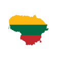 lithuania flag and map vector image