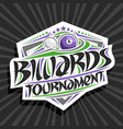 logo for billiards tournament vector image vector image