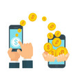 mobile payment white vector image vector image