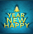 new year greeting poster vector image vector image