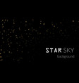 night sky with gold stars on black background vector image vector image