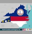 north carolina and virginia united states vector image vector image