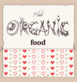 organic food label word organic vector image