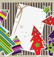 paper xmas card vector image