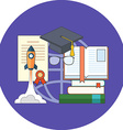 Potential of education concept Flat design Icon in vector image vector image