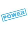 Power Rubber Stamp vector image vector image