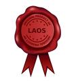 Product Of Laos Wax Seal vector image