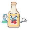 professor apple cider isolated with mascot vector image vector image