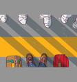 quarantine feet luggage tourism border top view vector image