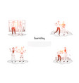 quarrelling - friends couples and colleagues vector image