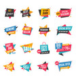 sale discount banner set vector image vector image