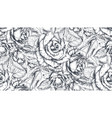 seamless pattern with hand drawn rose vector image vector image