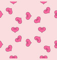 seamless pattern with hearts gift paper vector image vector image
