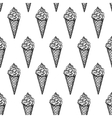 Seamless pattern with ice cream cones vector image
