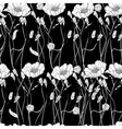 Seamless wallpaper with decorative flowers vector image vector image