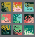 Set of dark colors abstract cards for your design vector image vector image