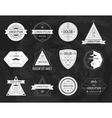 set of hipster modern labels icons vector image vector image