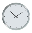 Silver wall clock vector image