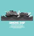 Sinking Ships Black Graphic vector image vector image