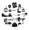 slam icons set simple style vector image vector image