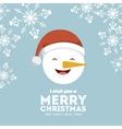 snowman icon Merry Christmas design vector image