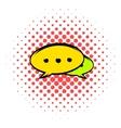 Speech bubbles icon comics style vector image vector image
