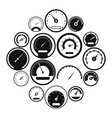 speedometer icons set simple style vector image vector image