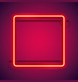 square red neon frame vector image