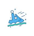 steamer riding icon design vector image