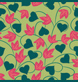 sweet floral seamless pattern backgroundromantic vector image vector image