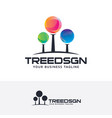 tree design logo vector image