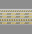 warning black and yellow tapes vector image vector image
