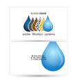 water filtration business card vector image vector image