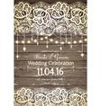 wedding invitation card beautiful lace vector image
