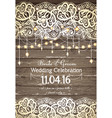 wedding invitation card beautiful lace with vector image vector image