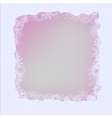 White Winter Frame vector image vector image
