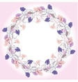 Wreath with violet and pink bindweed vector image vector image