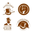 Retro gentlemen club emblems labels badges vector image