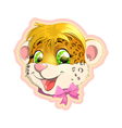 leopard face vector image