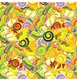 Seamless pattern background with lollipops vector image