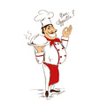 Isolated Chef with dish vector image