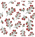 Red berries pattern seamless pattern vector image