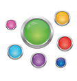 Set of round buttons vector image