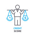 credit score concept outline icon linear sign vector image