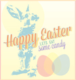 Vintage Happy Easter Card or Wallpaper vector image
