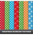 7 Merry christmas seamless patterns vector image