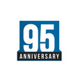 95th anniversary icon birthday logo vector image vector image