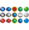 A set of buttons icons grey gloss vector image vector image