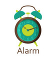alarm clock isolated on the white background vector image