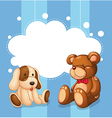 An empty cloud template with stuffed toys vector image vector image